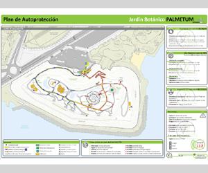 Cartel Evacuación Botánico el Palmetum SC Tfe_VRarquitectos Protection